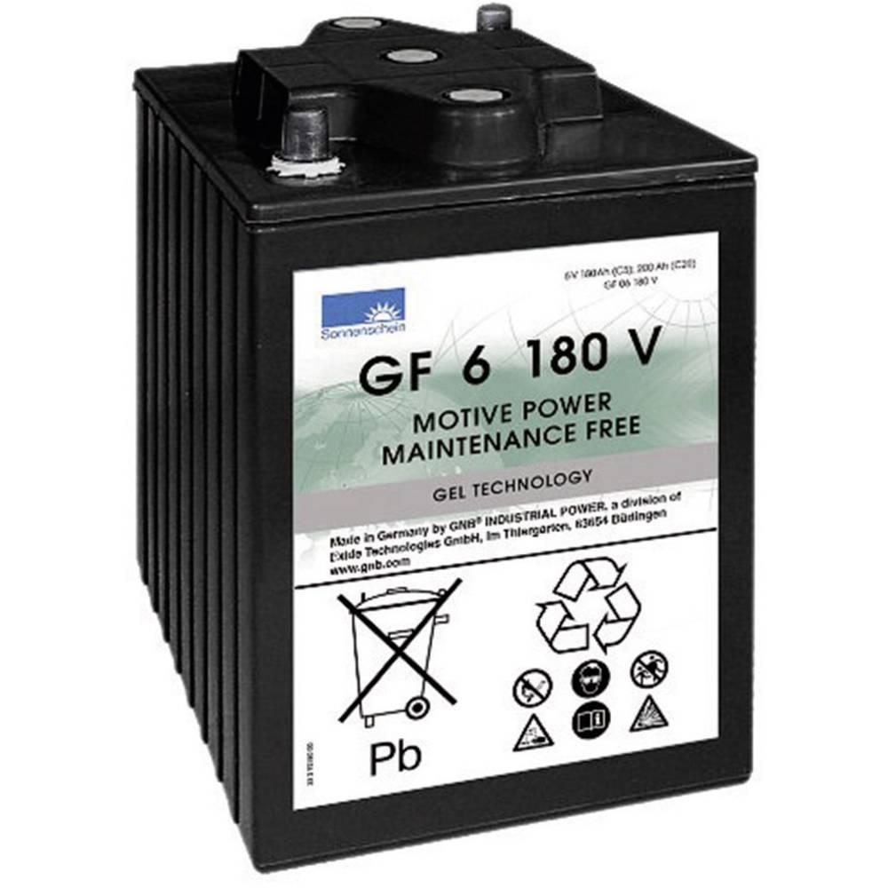 GNB Sonnenschein GF 06 180 V olověný akumulátor 6 V 180 Ah olověná gelová (š x v x h) 246 x 275 x 192 mm konický konektor bezúdržbové