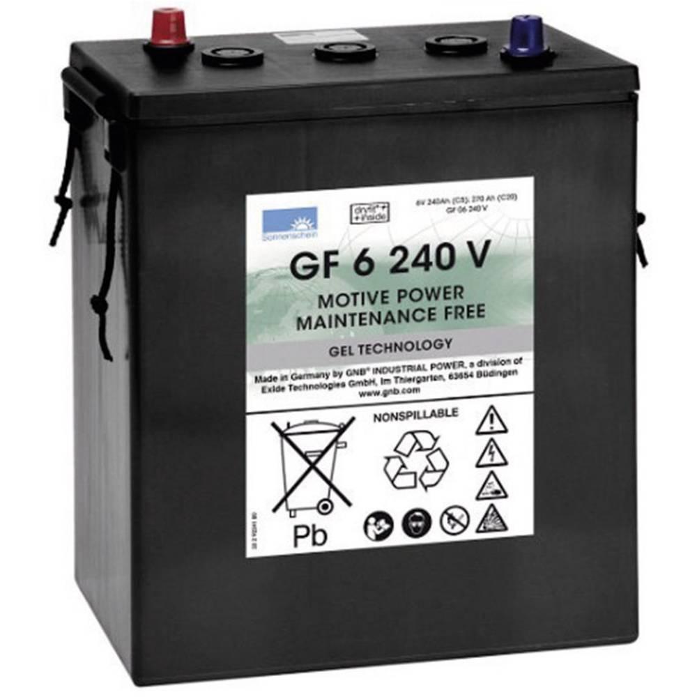 GNB Sonnenschein GF 06 240 V olověný akumulátor 6 V 240 Ah olověná gelová (š x v x h) 311 x 358 x 183 mm konický konektor bezúdržbové