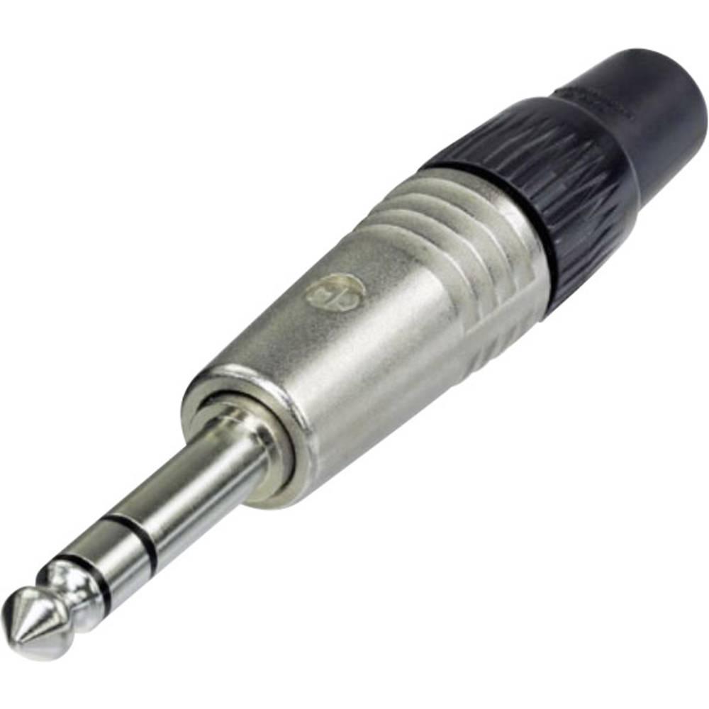 Neutrik NP3C jack konektor 6.35 mm zástrčka, rovná Pólů: 3 stereo stříbrná 1 ks