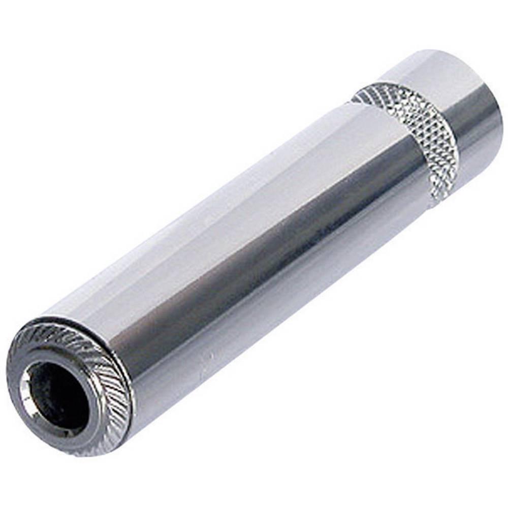Rean AV NYS2203P jack konektor 6.35 mm zásuvka, rovná Pólů: 3 stereo stříbrná 1 ks