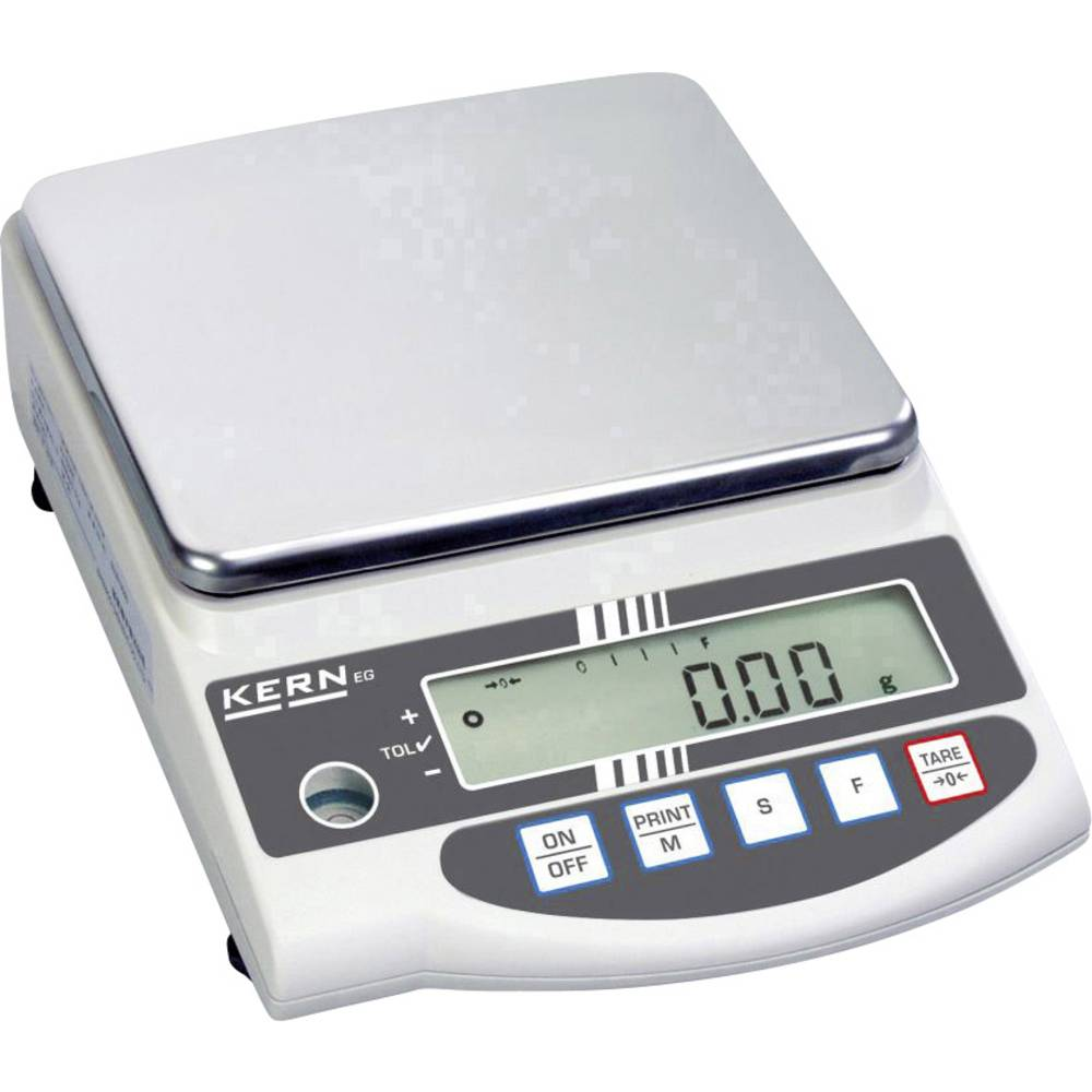 Kern EW 4200-2NM přesná váha Max. váživost 4.2 kg Rozlišení 0.01 g 230 V, napájeno akumulátorem stříbrná