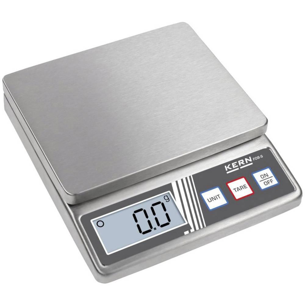 Kern FOB 5K1S váha na dopisy Max. váživost 5 kg Rozlišení 1 g na baterii stříbrná