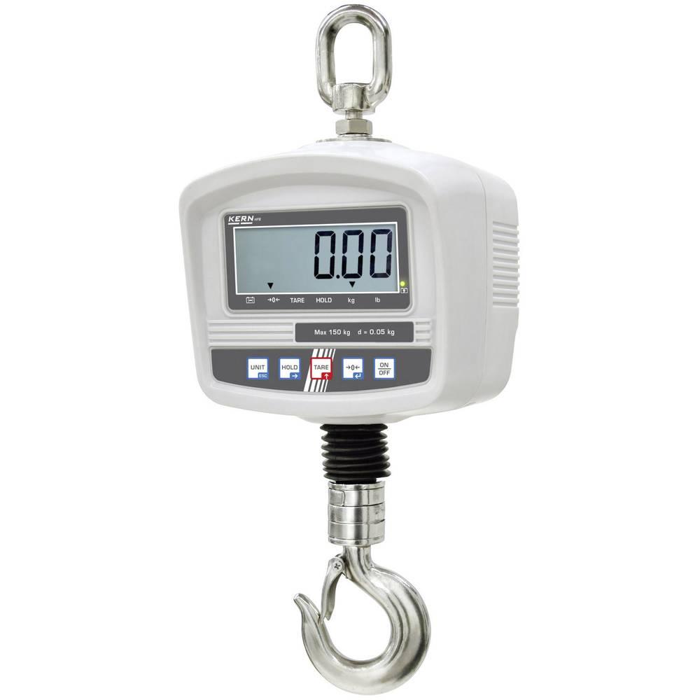 Kern jeřábová váha Max. váživost 150 kg Rozlišení 50 g 230 V, napájeno akumulátorem