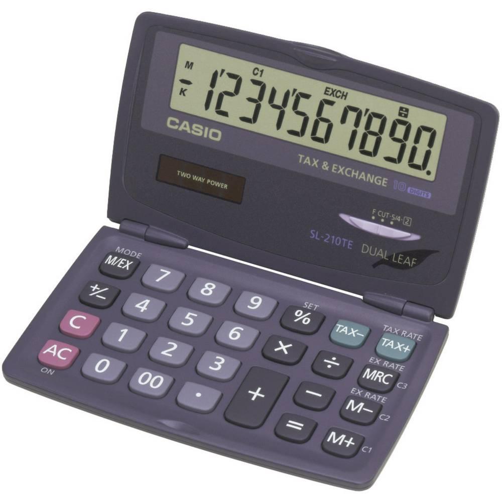Casio SL-210TE kapesní kalkulačka antracitová Displej (počet míst): 10 solární napájení, na baterii (š x v x h) 120 x 12.5 x 73 mm