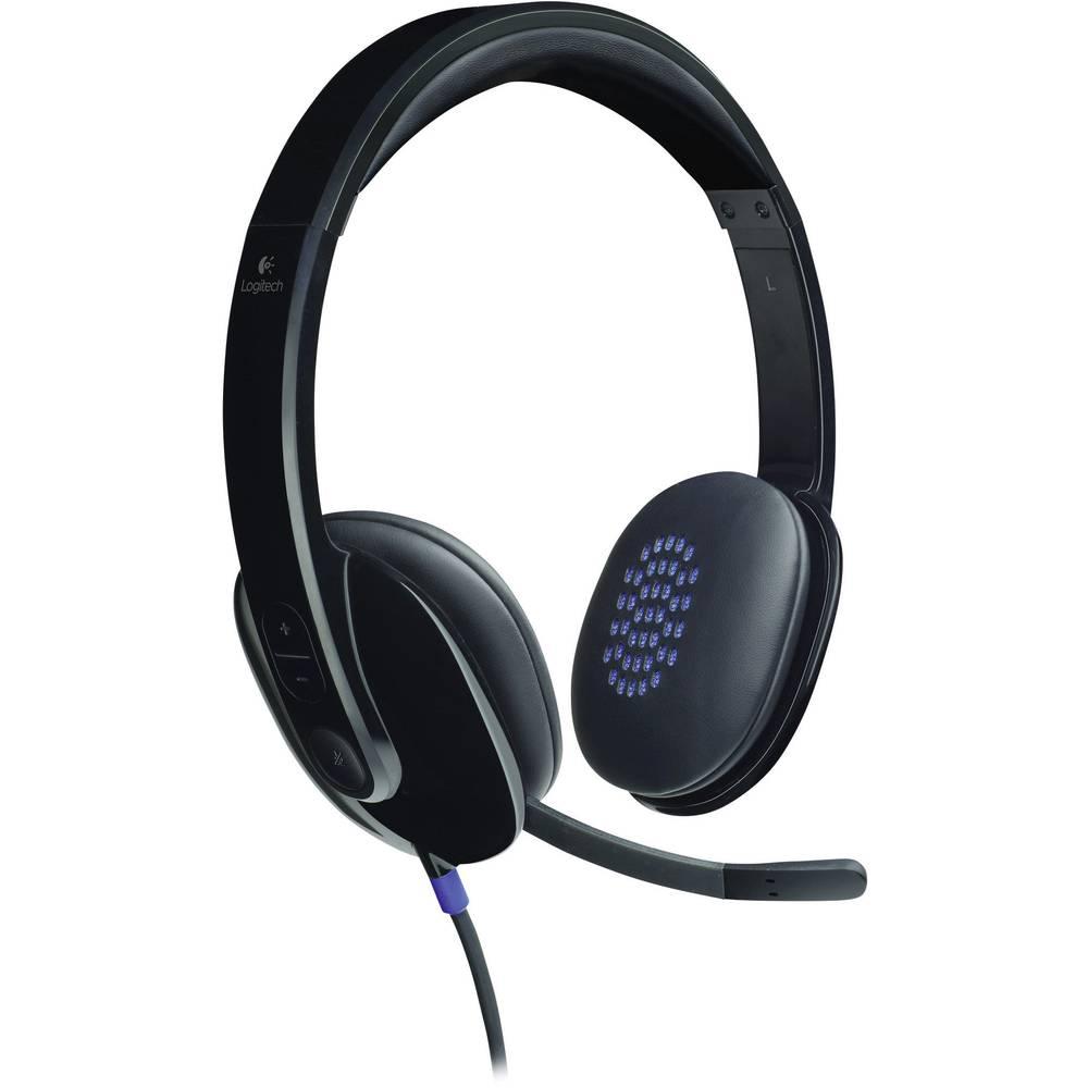 Logitech H540 headset k PC s USB na kabel, stereo na uši černá