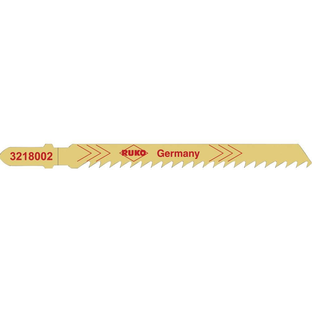 RUKO 3228002 Pilové listy Tvrdé dřevo, měkké dřevo, překližkové a dřevovláknité desky do 60 mm, paralelní řezy, čistý řez. Měkké umělé hmoty do 25 mm, čistý řez 5 ks