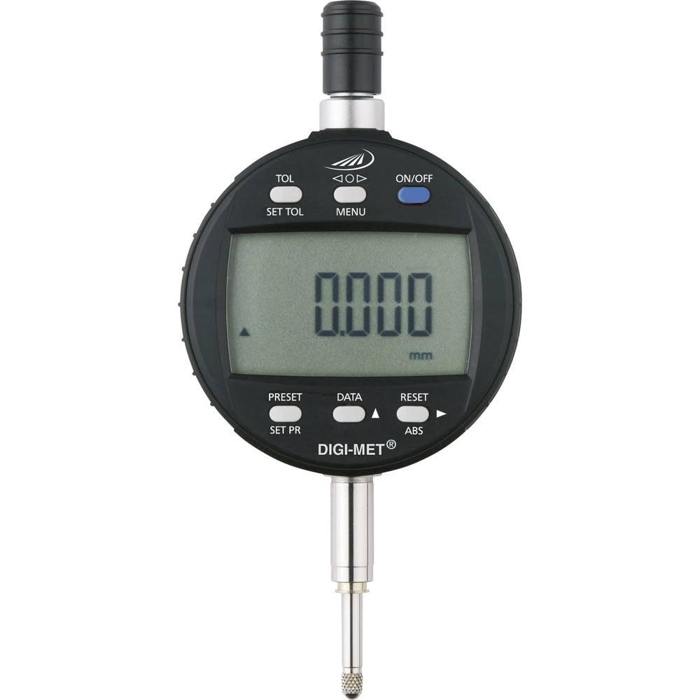 HELIOS PREISSER 1726 502 stopky s digitálním displejem 12.5 mm Odečet: 0.001 mm
