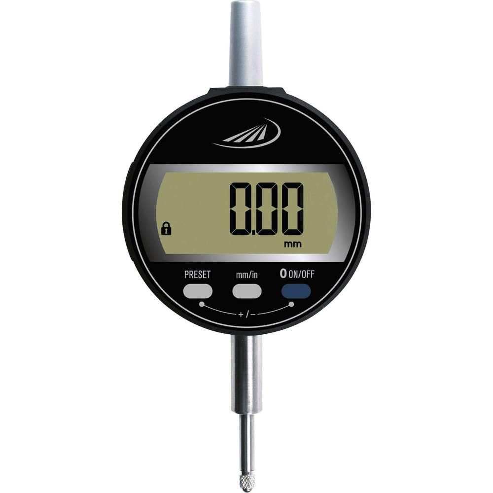 HELIOS PREISSER 1722 502 stopky s digitálním displejem 12.5 mm Odečet: 0.01 mm