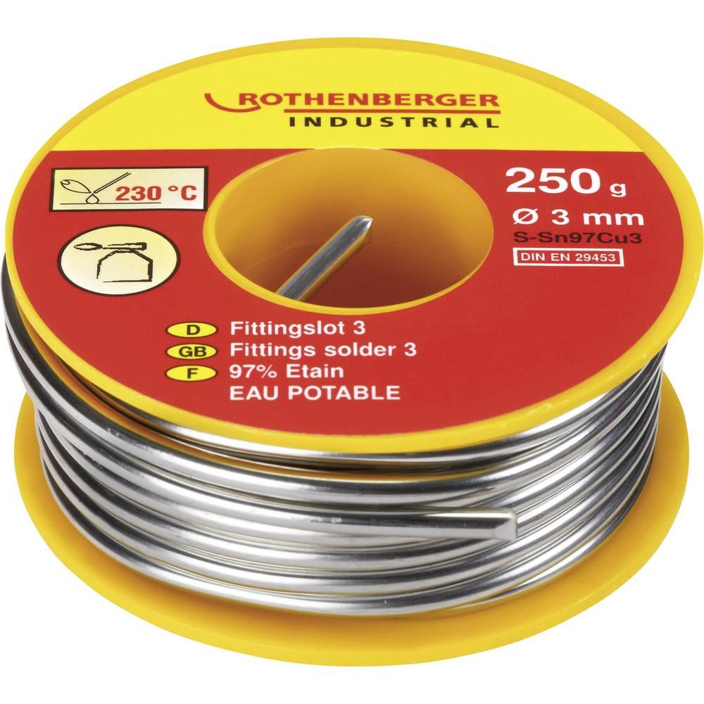 Rothenberger Industrial S-Sn97Cu3 pájecí cín cívka S-Sn97Cu3 250 g 3 mm