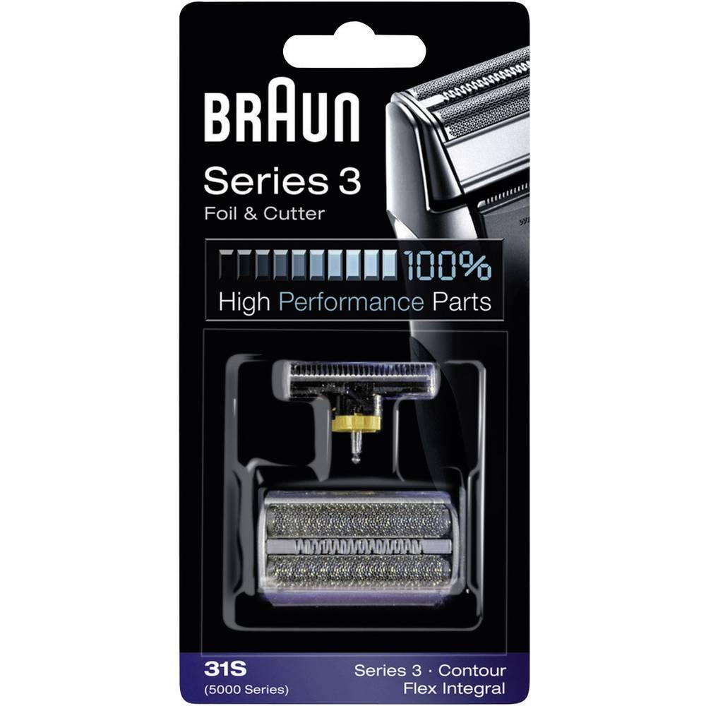 Braun 31S holicí fólie a holicí hlava stříbrná 1 sada