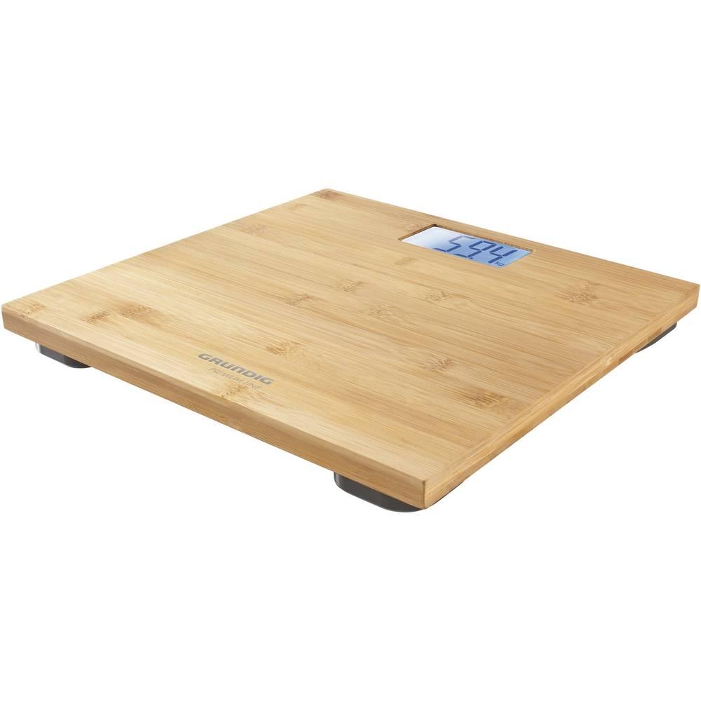 Grundig PS4110 digitální osobní váha Max. váživost=180 kg bambusová