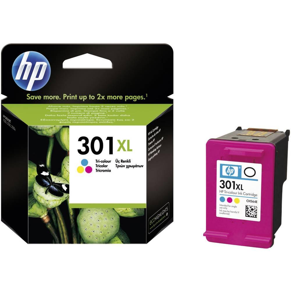 HP 301 XL Inkoustová kazeta originál azurová, purppurová, žlutá CH564EE náplň do tiskárny