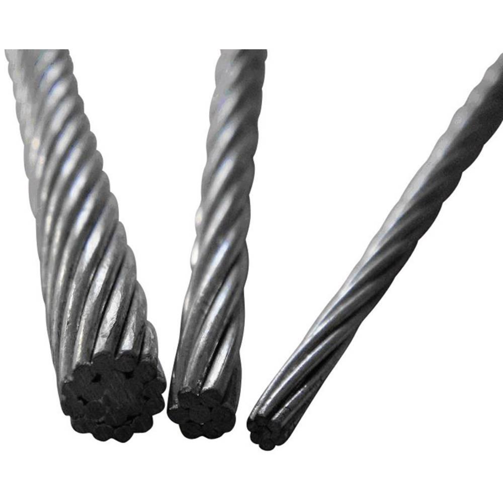 ocelové lano drátové (Ø) 1.5 mm TOOLCRAFT 13211100150 šedá