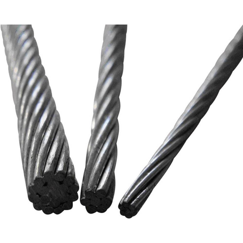 ocelové lano drátové (Ø) 2 mm TOOLCRAFT 13211100200 šedá