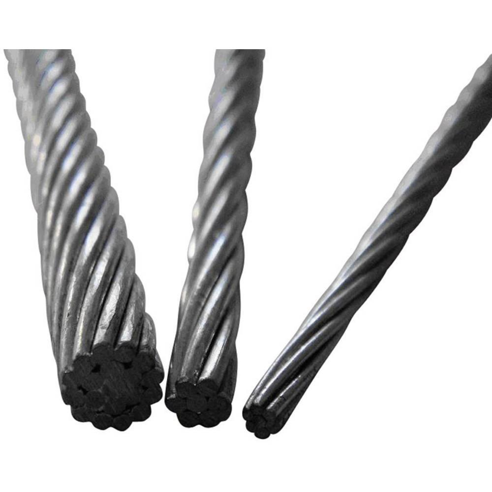 ocelové lano drátové (Ø) 3 mm TOOLCRAFT 13211100300 šedá