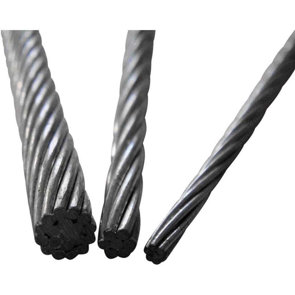 ocelové lano drátové (Ø) 4 mm TOOLCRAFT 13211100400 šedá