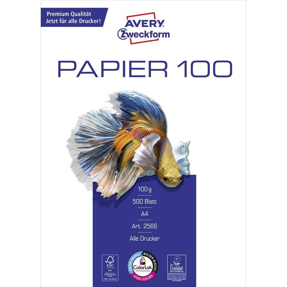 Avery-Zweckform Inkjet Paper Bright White 2566 papír do inkoustové tiskárny A4 100 g/m² 500 listů vysoce bílá