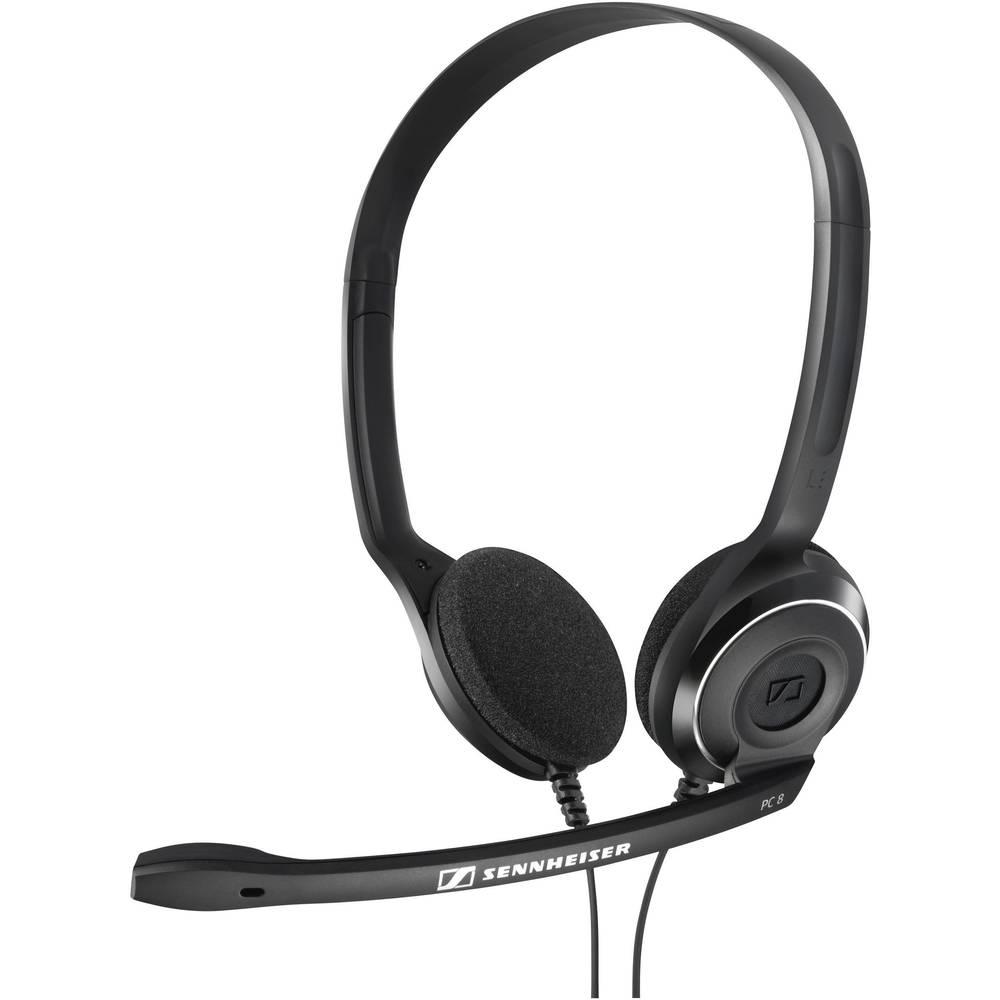 Sennheiser PC 8 USB headset k PC s USB na kabel, stereo na uši černá