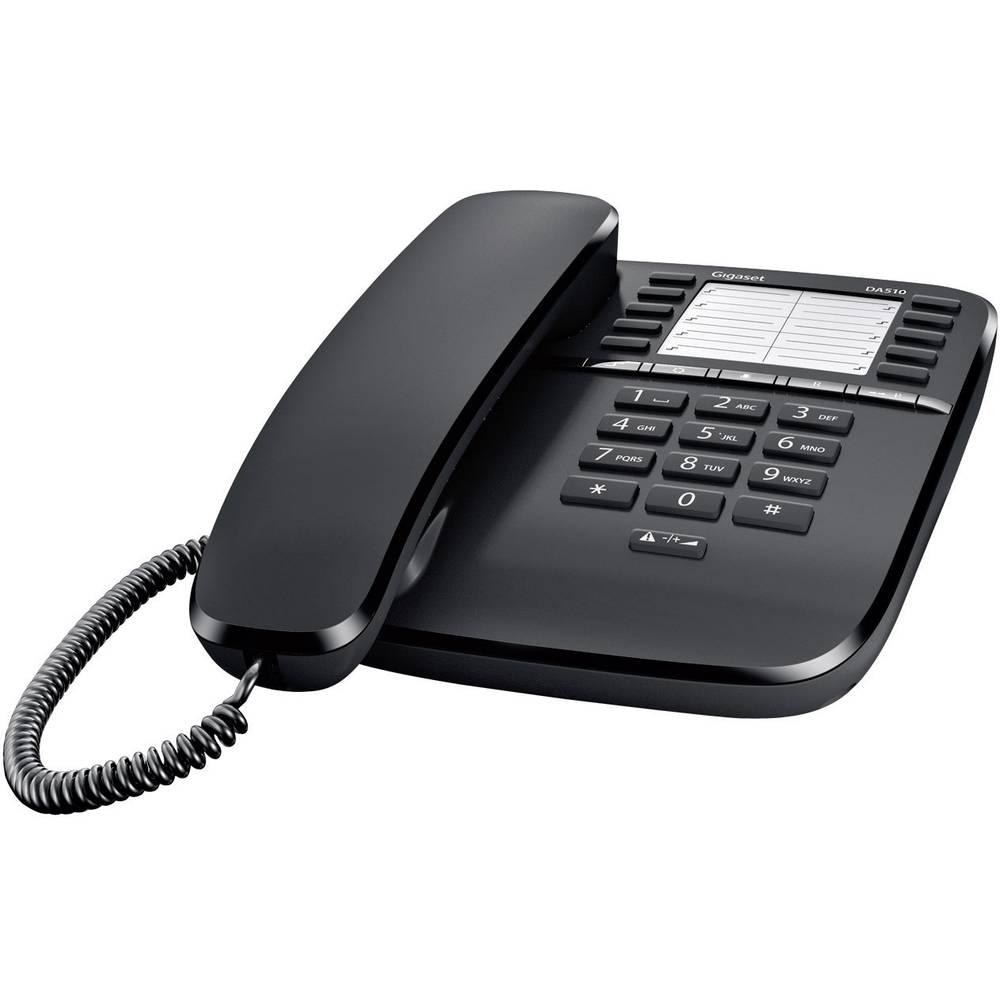 Gigaset DA510 šňůrový telefon, analogový bez displeje černá