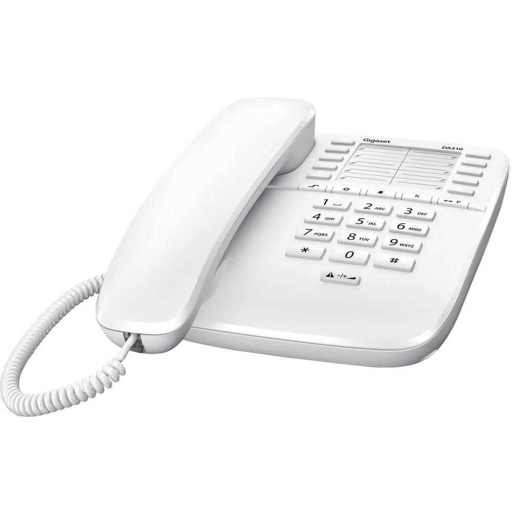 Gigaset DA510 šňůrový telefon, analogový bez displeje bílá