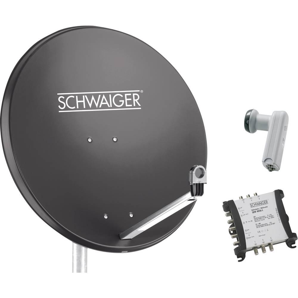 Schwaiger SPI9961SET5 satelit bez přijímače Teilnehmer-Anzahl 6 80 cm