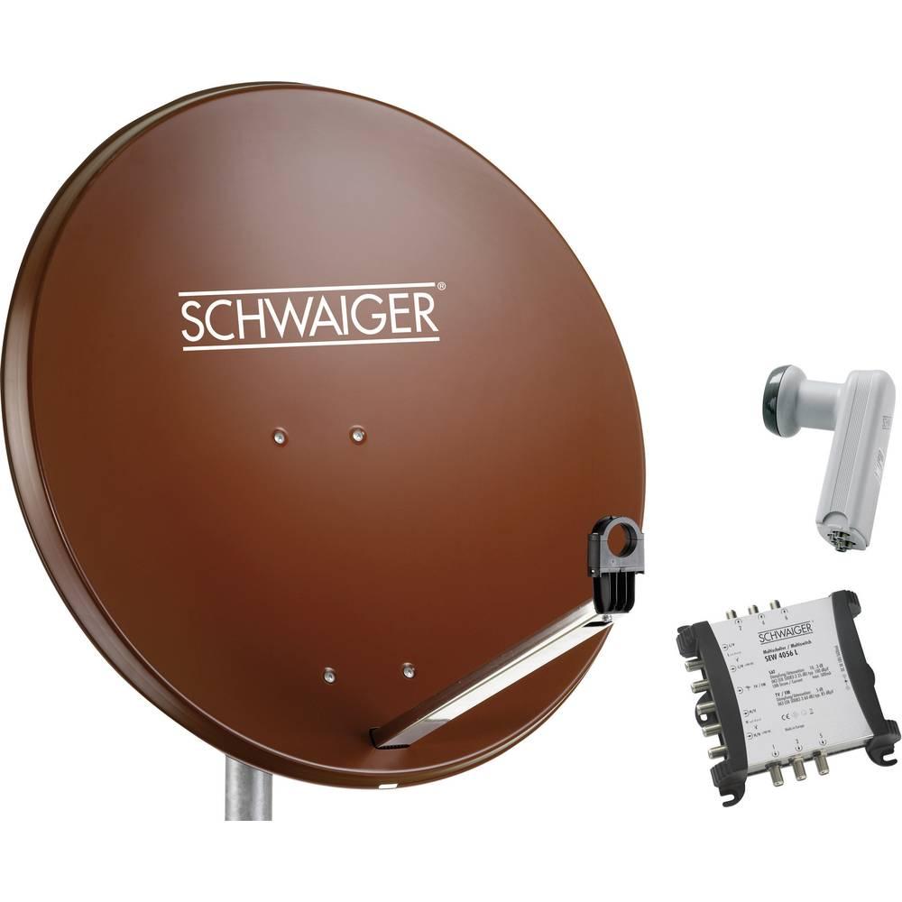 Schwaiger SPI9962SET5 satelit bez přijímače Teilnehmer-Anzahl 6 80 cm