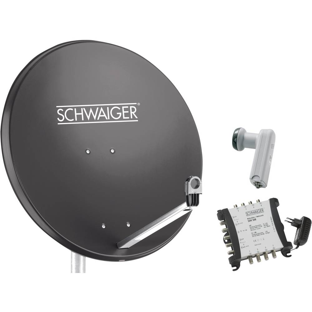 Schwaiger SPI9961SET6 satelit bez přijímače Teilnehmer-Anzahl 8 80 cm