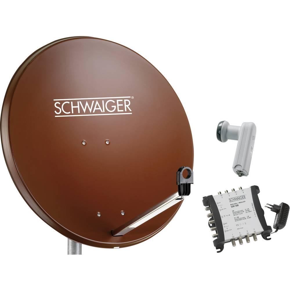 Schwaiger SPI9962SET6 satelit bez přijímače Teilnehmer-Anzahl 8 80 cm