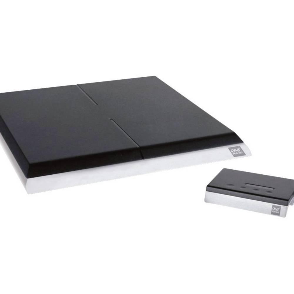 One For All SV 9395 Aktivní plochá DVB-T/T2 anténa vnitřní Zesílení: 51 dB černá, stříbrná (kartáčovaná)