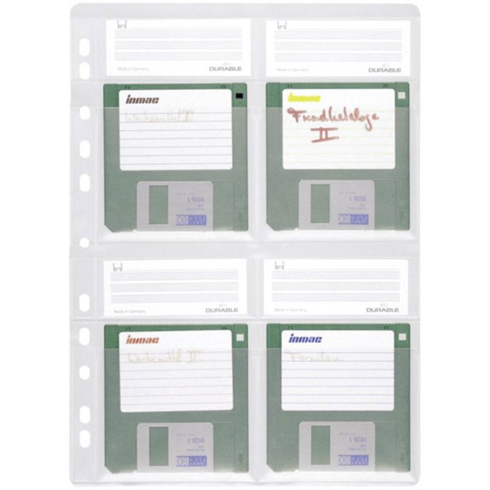 Durable obal pořadače na diskety 4 diskety 3,5palcové transparentní 5 ks 524319