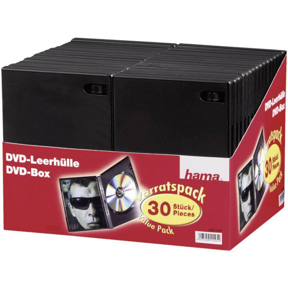 Hama obal na DVD 1 CD/DVD/Blu-Ray plast černá 30 ks (š x v x h) 14 x 191 x 134 mm 11495