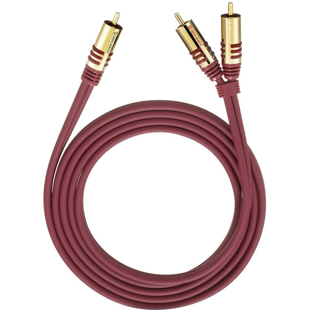 Oehlbach 20561 cinch audio Y kabel [2x cinch zástrčka - 1x cinch zástrčka] 1.00 m červená pozlacené kontakty