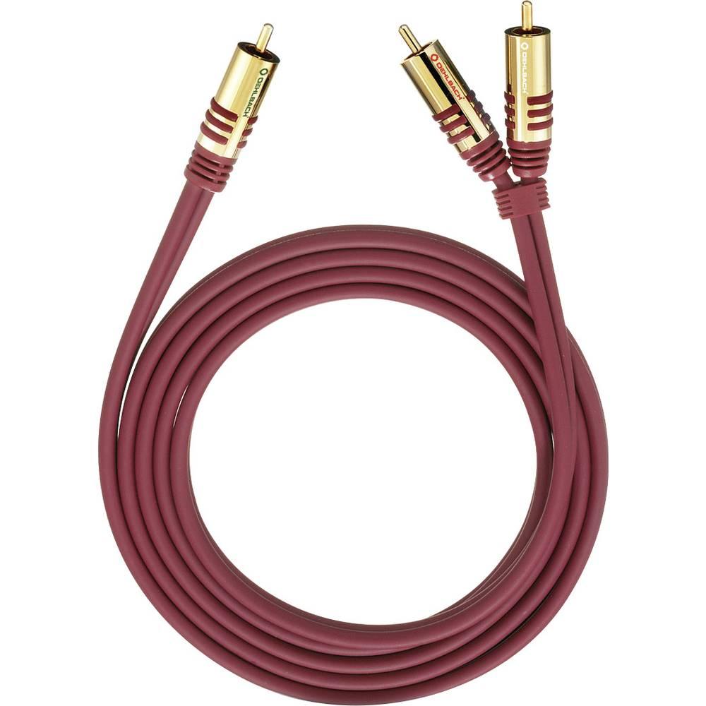 Oehlbach 20562 cinch audio Y kabel [2x cinch zástrčka - 1x cinch zástrčka] 2.00 m červená pozlacené kontakty