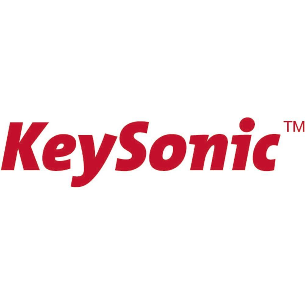 Keysonic KSK-5230 IN (FR) USB Klávesnice AZERTY černá silikonová membrána, vodotěsné (IPX7), integrovaný touchpad, tlačítka myši