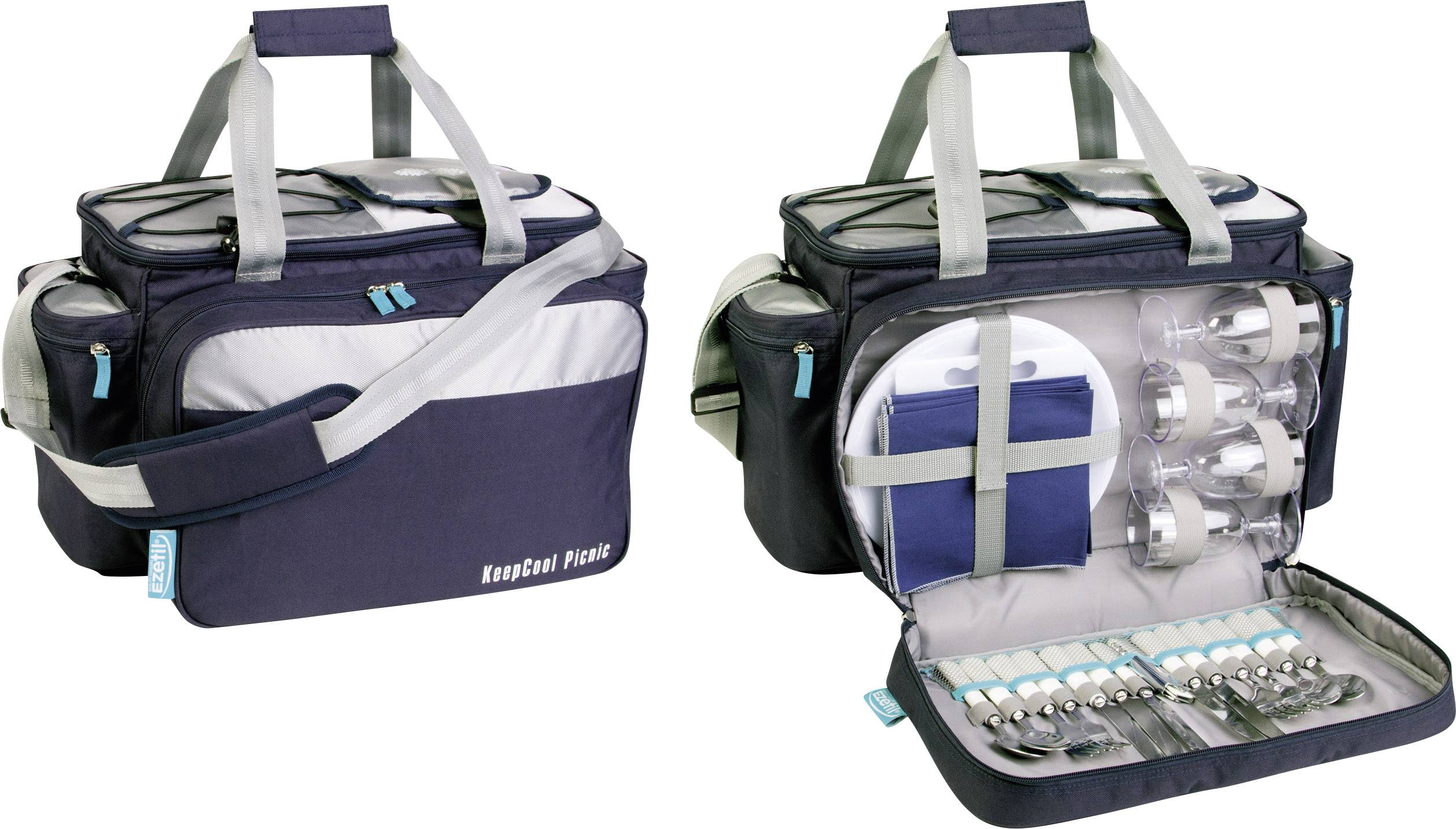 Ezetil Travel in Style 34 Picnic Bag Køletaske Passiv Navy, Sølv 34 l