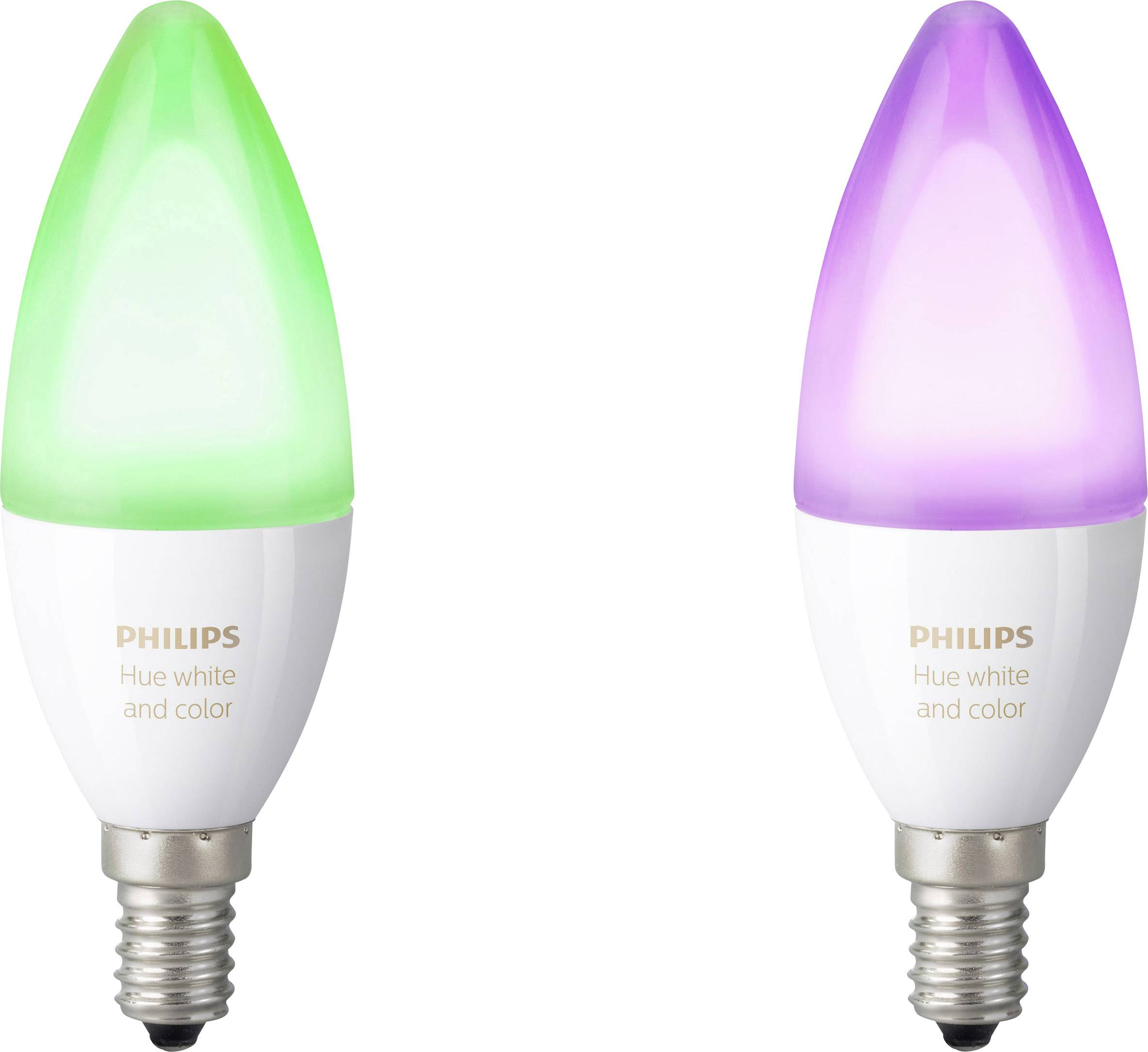 db75bc1943b Philips Lighting Hue LED-pære (sæt med to styk) White and color ambiance  E14 6.5 W RGBW 2 stk
