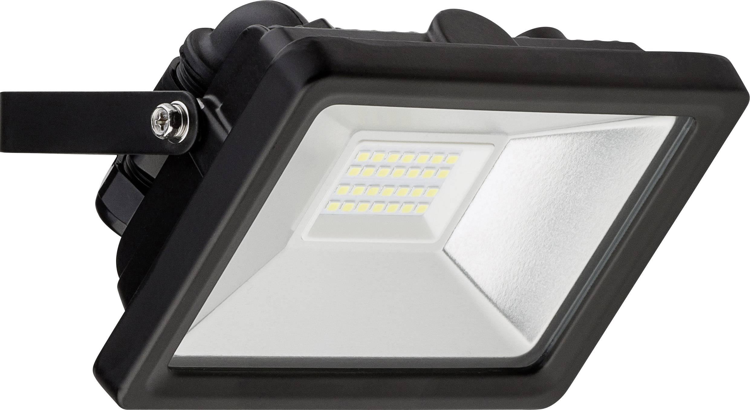 Super LED-udendørs projektør Goobay 20 W 1650 lm Dagslyshvid Sort GI57
