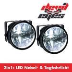 2IN1 LED tågeforlygter med LED-kørelys