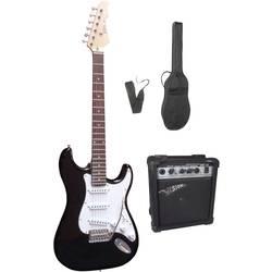 Sada elektrickej gitary MSA Musikinstrumente 301750, čierna, vr. púzdra, vr. zosilňovača