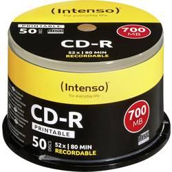 Image of Intenso 1801125 CD-R 80 Rohling 700 MB 50 St. Spindel Bedruckbar