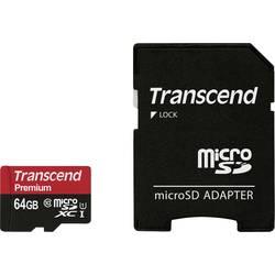 Pamäťová karta micro SDXC, 64 GB, Transcend Premium, Class 10, UHS-I, vr. SD adaptéru