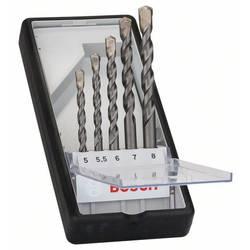 Tvrdý kov sada vrtákov do betónu Bosch Accessories 2607010526, 5 mm, 5.5 mm, 6 mm, 7 mm, 8 mm, N/A, 1 sada