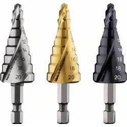 """HSS stupňovitý vrták Bosch Accessories 2608587433, 4 - 20 mm, TiN, celková dĺžka 70.5 mm, 1/4 """"(6,3 mm), 1 ks"""