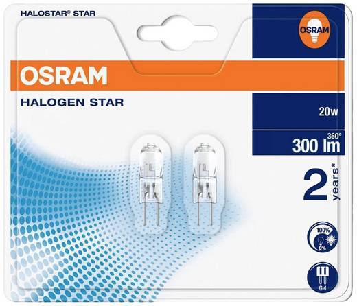 OSRAM Halogen EEK: C (A++ - E) G4 33 mm 12 V 20 W Warm-Weiß Stiftsockel dimmbar 2 St.