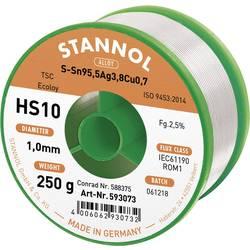 Cínová pájka PBF, Sn95Ag4Cu1, Ø 1 mm, 250 g, Stannol HS10 2510