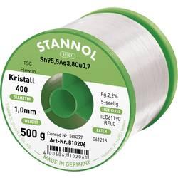 Cínová pájka PBF, Sn95,5Ag3,8Cu0,7, Ø 1 mm, 500 g, Stannol Flowtin TS