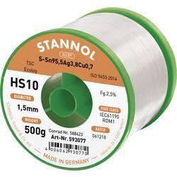 Cínová pájka PBF, Sn95Ag4Cu1, Ø 1,5 mm, 500 g, Stannol HS10 2510