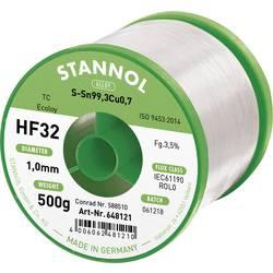 Cínová pájka PBF, Sn99Cu1, Ø 1 mm, 500 g, Stannol HF32 3500