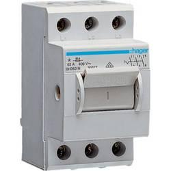 Hlavní jistič Hager SH363N, 63 A, 3pólový, 230/400 V/AC, šedá
