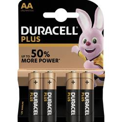 Baterie alkalická AA Duracell Plus, sada 4 ks